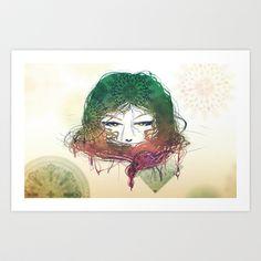 Mermaid Art Print by Mariana M.L. Brito - $15.00