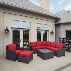 Wicker Sectional - Patio Furniture By North Cape International - Great Value!