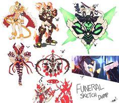 Funeral Sketch Dump. by endshark on DeviantArt