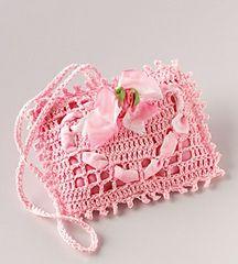Valentine's Day crocheted fragrant sachet