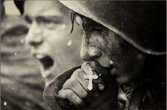 Russian Soldiers Preparin for battle. Kursk, July 1943