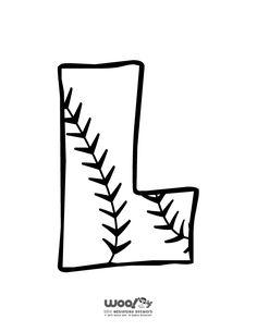 Printable Baseball Alphabet Letters Baseball Alphabet Letter L – Craft Jr. Baseball Letters, Baseball Crafts, Baseball Wreaths, Alphabet Letters To Print, Bubble Letters, Graffiti Alphabet, Calligraphy Doodles, Doodle Fonts, Calligraphy Alphabet