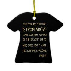 Christian Scriptural Bible Verse - James 1:17 Christmas Ornament