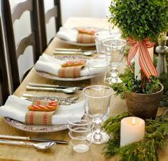 Ma maison au naturel: Une table de Noël
