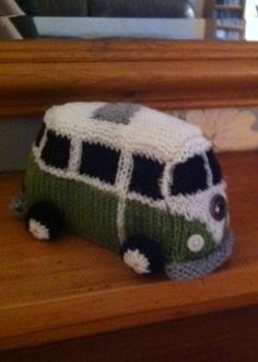 Iconic 1960's Campervan  mock VW knitting pattern,  easy to follow graphs provided. £2.99, via Etsy.