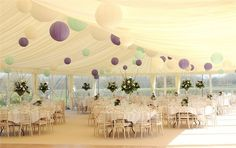 Clear-span marquee interior - Friars Court