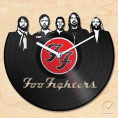 vinyl wall clock  Foo Fighters by Anantalo on Etsy