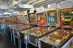 10. A vintage pinball museum on the beach