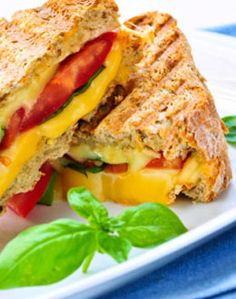 Crab and Cheese Melt Sandwich