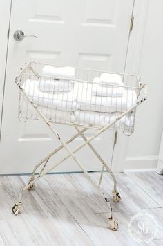 10 BEST ITEMS TO HAVE IN A LAUNDRY ROOM Laundry Cart, Clothes Drying Racks, Farmhouse Laundry Room, Wash Tubs, Doing Laundry, Florida Home, Vinyl Flooring, Washer And Dryer, Home Renovation