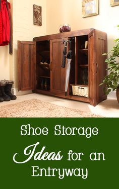 Many people prefer to remove their shoes when entering their home to help keep their home clean.   A problem arises when the shoes get pushed into a messy pile  in the entryway or foyer (especially if there are children in the house).   Here are a few shoe storage ideas for a home's entryway or foyer.