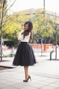 Haute off the Rack - the black Ashley tulle skirt by Bliss Tulle Black Tulle Skirt Outfit, Skirt Outfits, Holiday Dresses, Holiday Outfits, Tulle Skirt Bridesmaid, Party Mode, Tulle Skirts, Chiffon Skirt, Mode Inspiration