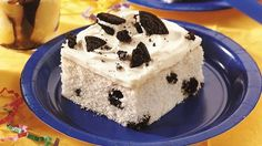 Cookies 'n Cream Cake  Just add 1 cup of crushed cookies to batter and bake.  Vanilla frosting and additional crushed cookies.  Yummy!