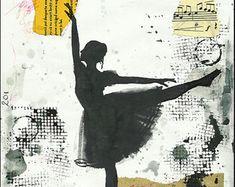 Print Art poster best gift home decor Ballet Dancer Ink by rcolo