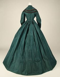 Dress (image 4) | probably  American | 1863 | silk | Metropolitan Museum of Art | Accession Number: 1979.346.21a, b