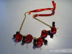 collar #3225, totalmente ajustable.  valor $5000  compralo en www.joyascaroltolg.ecarty.com o escribeme a caroltolg@hotmail.com Red, Black, Accessories, Black People