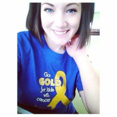 """#GoGold Warrior: Lindsey Kruis  """"Just got my shirt in the mail!!! Here's a picture for the album, Thank you!! - Lindsey Kruis"""""""