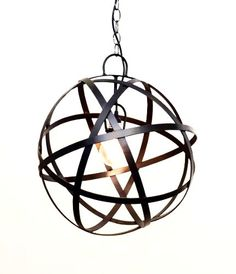 Sphere Hanging Lamp w/ Socket Set-18 Inches Diameter.