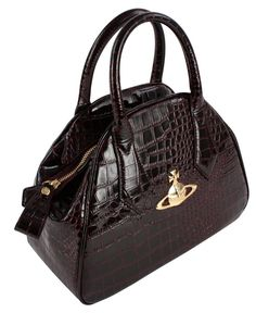 Crocodile Bags | Vivienne Westwood New Chancery Bag - Bordeaux | Available at KJ Beckett - Only £229.95!!