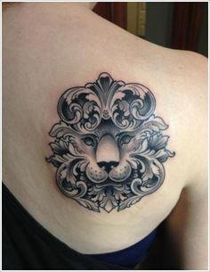 Amazing - Tribal Lion Tattoo Design