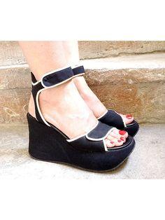 90S KELIAN  PLATFORM  shoes sandals  black and by lesclodettes, $120.00