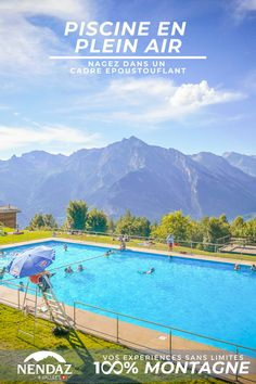 Découvrez sans plus attendre notre piscine extérieure chauffée à 25 degrés. Face à un panorama éblouissant, vos baignades estivales s'annoncent inoubliables. Panorama, Rhone, Mountains, Outdoor Decor, Travel, Swim, Swimming, Voyage, Viajes