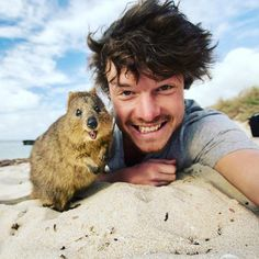 "A quokka & the man - It all started with one baby camel. Three years later, globe-trotting adventure photographer Allan Dixon (@daxon) continues to take selfies with wildlife, sometimes relaxing with them for hours before a photo is taken. ""Patience is key in getting so close,"" Allan explains. ""I think they can sense how I feel and know I have no desire to harm them."" Allan grew up in Ireland and is currently traveling in Australia where his favorite animal, the quokka, lives."