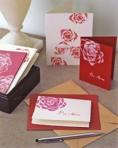 """See the """"Rosy Stationery"""" in our Last-Minute Valentine's Day Ideas gallery"""