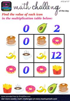 Challenge Math Worksheets are You Ready for 17 Awesome New Math Challenges — Mashup Math Math Tutor, Teaching Math, Math Games, Math Activities, Educational Activities, Amazon Education, Math Enrichment, Printable Math Worksheets, Free Printable