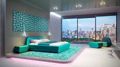 Get bags of inspiration for a modern bedroom design with this massive gallery of bedroom decor ideas, tips, tricks and modern bedroom accessories. Blue Green Bedrooms, Green Bedroom Walls, Sage Green Bedroom, Bedroom Colors, Green Bedroom Design, Luxury Bedroom Design, Bedroom Designs, Bedroom Ideas, Furniture Sets Design