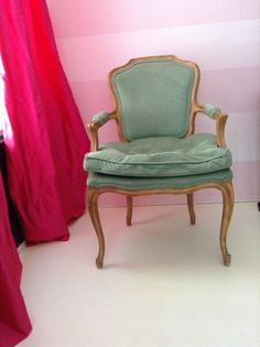#Green #Vintage #Cabriolet #LouisXV #Armchair by #thevintagelaundry on our website and #Etsy