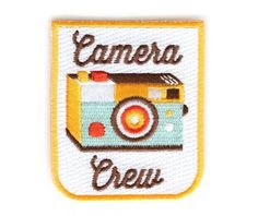 Camera Crew Decorative Embroidered Sew or Iron-on Backing Patch