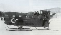 The 3-ski Aerosled design and built by Asser Järvinen in 1919. A 15-seater, it was powered by a 150hp Benz engine. It ran between Helsinki and Santahamina over the 1920′s. Photo courtesy of Feeniks, the magazine of the Finnish Aviation Museum Society (http://www.imy.fi/)