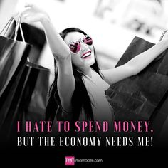 Tough job but somebody's gotta do it! #money #spending #shopping #shops #economy #blackandwhite #pink #shopaholic #fashionaddict #fashion https://scontent.cdninstagram.com/t51.2885-15/sh0.08/e35/14156621_330476600621041_700007024_n.jpg?ig_cache_key=MTMzMzk5OTg0OTcxMjg5MjIyMg%3D%3D.2