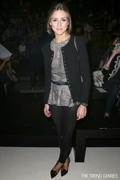 Olivia Palermo at the Elie Saab fashion show during Paris Fashion Week Spring 2014 in Paris, France - September 30, 2013