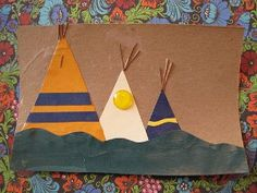 How to make mini teepees tipi with free printable template for Easy native american crafts