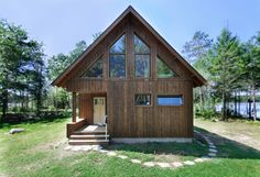 """Wisconsin """"Almost Passive House"""" Cabin - rustic - Exterior - Other Metro - bldgtyp"""