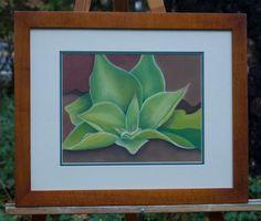 Lone Succulent by Lori Paskey, pastel, 23.5x18.5, Meadow Vista