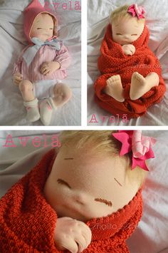 I find many baby dolls slightly creepy - I know, it's just me being odd :) - but these are actually quite cute.