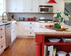 Kitchen of the Week: Splashes of Red for a Country Classic