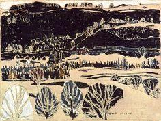 Black Hills David B. Milne 1917 Canadian Painters, Canadian Artists, Landscape Paintings, Tree Paintings, Landscapes, David Milne, Gouache, Sculpture Projects, Impressionist Art