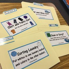 I love having a stash of file folders ready to go in a moments notice for those times when a lesson runs too short and you need to keep your kiddos busy! @breezyspecialed makes the BEST life skill ones!!! #weteachsped #autismclassroom
