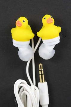 Rubber duck earphones.. was given these for Christmas... lol!