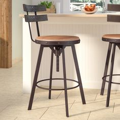 20 farmhouse bar stools to make your house look vintage and awesome! – My Life Spot Counter Bar Stools, Kitchen Stools, Swivel Bar Stools, Bar Chairs, Ikea Chairs, Room Chairs, High Chairs, Industrial Counter Stools, Island Stools
