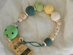 Eco-friendly/personalized/crocheted wooden by RasvyteEcoHandmade