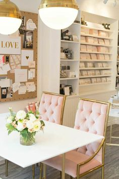 Viyet Style Inspiration | Home Office | Love this girly chic office