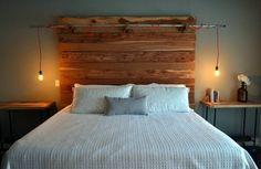 schlafzimmer schlichtes interieur kopfteil bett holz design Erwin Renovation