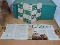 Mid Century Lamb Cookbook by Paula Owen • First Edition 1959 • Hardback with Dust Jacket • Wonderful Graphics by 13thStreetEmporium on Etsy