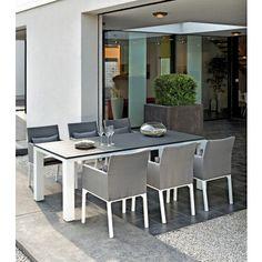24Designs Tuinset Galio + 6 All Weather tuinstoelen - L220 x B100 x H74 cm - Aluminium