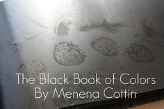 crayonfreckles: The Black Book of Colors - El libro negro de los colores